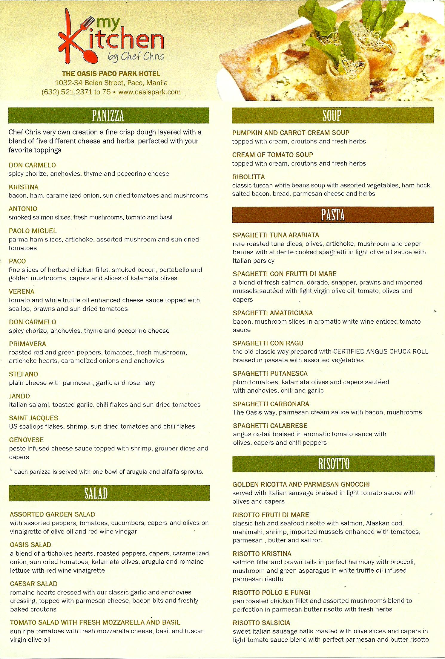 Beaufiful My Kitchen Menu Pictures >> My Kitchen Menu Menu For My ...