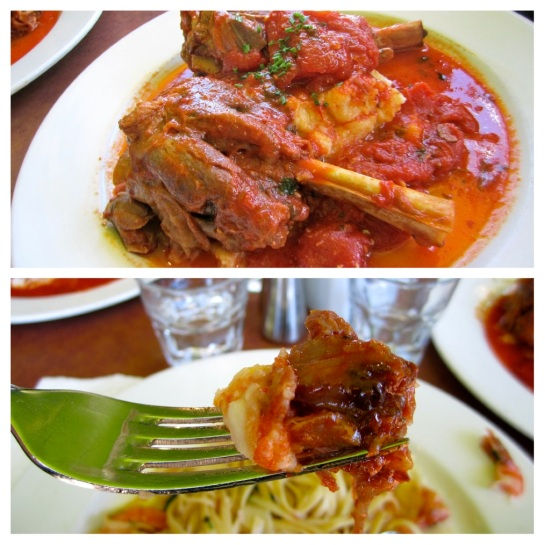 Andrew and Sandra ordered the same main. The braised Lamb Shank. Utterly delicious!