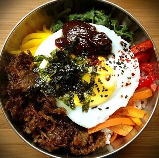 Creative dishes using their one of a kind tapa creation. Tapa bibimpab? Yuuuum!