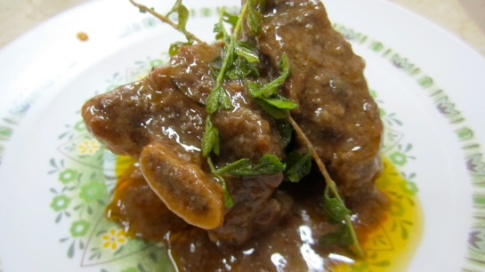 Braised Shortribs with Red wine and Thyme Butter