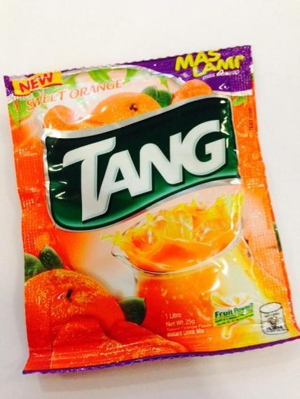 Grab your Tang Sweet Orange Juice powder