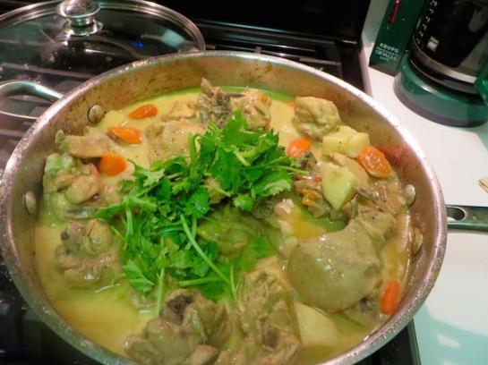 Add cilantro and stir to combine.